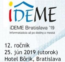 Program konferencie iDEME Bratislava 2019