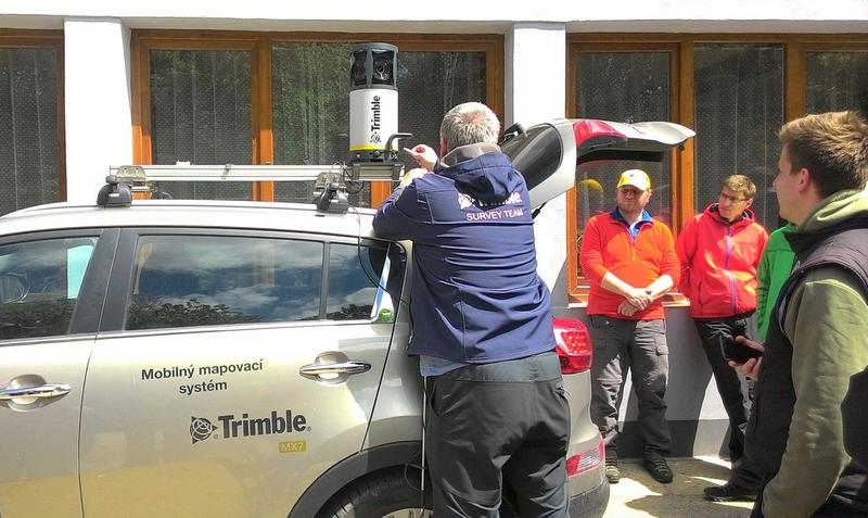 Mobilné mapovanie pomocou zariadenia Trimble