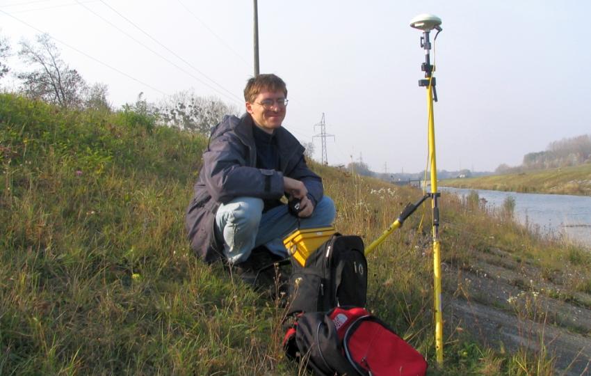 Miroslav Kožuch pri práci v teréne, foto: archív M.Kožuch