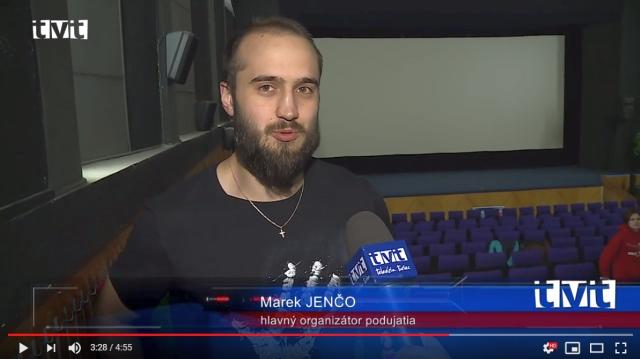 Marek Jenčo v reportáži Televízie Turiec: Filmoví zanietenci si pozreli trilógiu Pána prsteňov na jednom mieste a v bonusovom vydaní