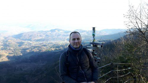 Martin Tuchyňa na vyhliadke Via Ferrata na Skalke, foto: archív M.Tuchyňa