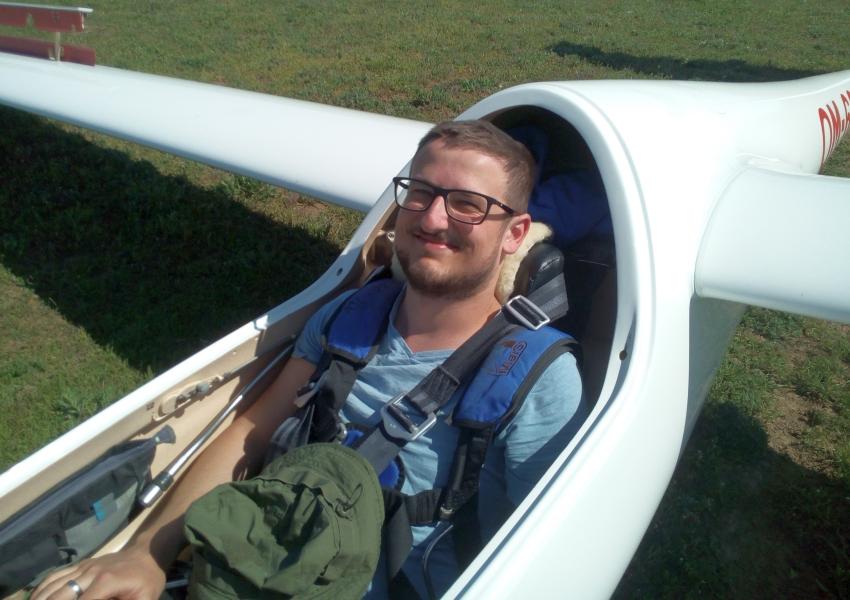 Peter Piesecký je členom Aeroklubu Trnava, pretože jeho vášňou je bezmotorové lietanie, foto: archív P.Piesecký