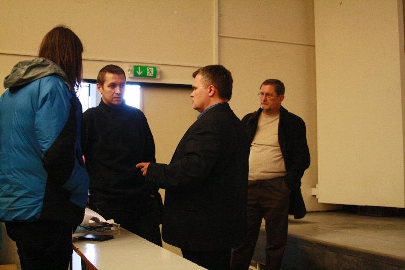 Rozhovor Mila Ofúkaného s Jakubom Fuskom o spolupráci so študentami Slovenskej poľnohospodárskej univerzity v Nitre, foto: Monika Sedláková