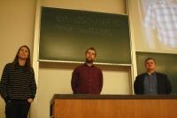 Martin Pravda, Martin Kalivoda, Miloslav Ofúkaný na stretnutí OSS Víkend Bratislava 2016, foto: Monika Sedláková